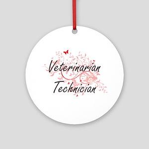Veterinarian Technician Artistic Jo Round Ornament