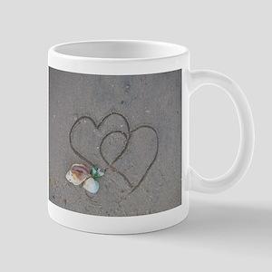 hearts and shells on sa Stainless Steel Travel Mug