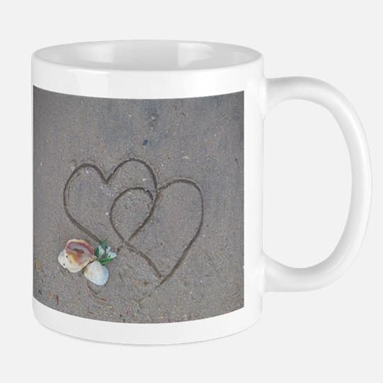 hearts and shells on sa Stainless Steel Travel Mug