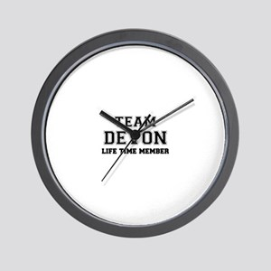 Team DEVON, life time member Wall Clock