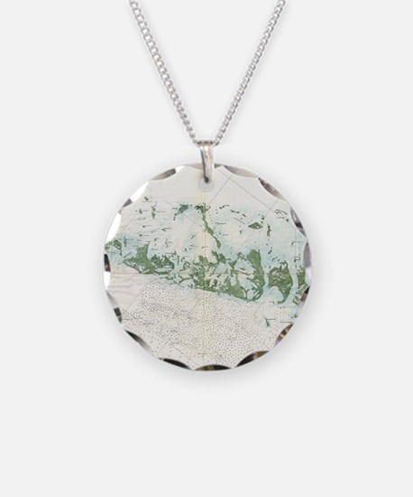 Vintage Map of The Florida K Necklace