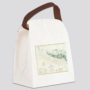 Vintage Map of The Florida Keys ( Canvas Lunch Bag