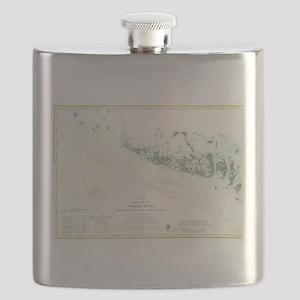 Vintage Map of The Florida Keys (1859) 2 Flask
