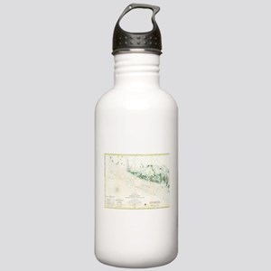 Vintage Map of The Flo Stainless Water Bottle 1.0L