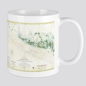 Vintage Map of The Florida Keys (1859) 2 Mugs
