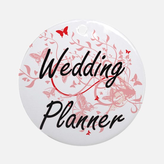 Wedding Planner Artistic Job Design Round Ornament