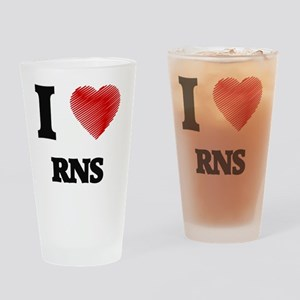 I Love Rns Drinking Glass