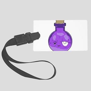purple bottle Large Luggage Tag