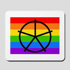 Fat Fetish Symbol on Rainbow Flag Mousepad