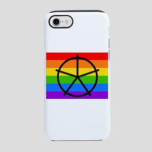 Fat Fetish Symbol on Rainbow iPhone 8/7 Tough Case
