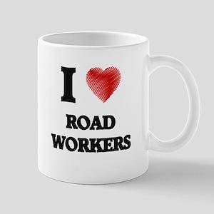 I Love Road Workers Mugs