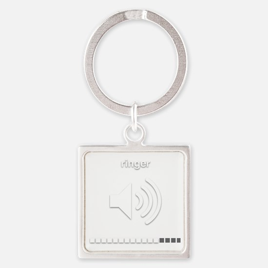 Funny Tablet Square Keychain