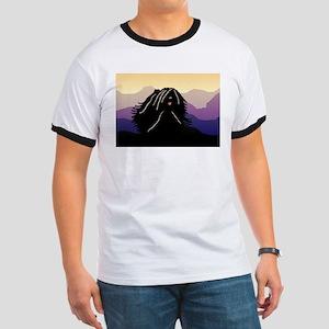 Puli Purple Mountain Ringer T