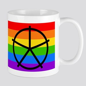 Fat Fetish Symbol on Rainbow Flag Mugs