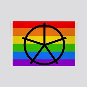 Fat Fetish Symbol on Rainbow Flag Magnets