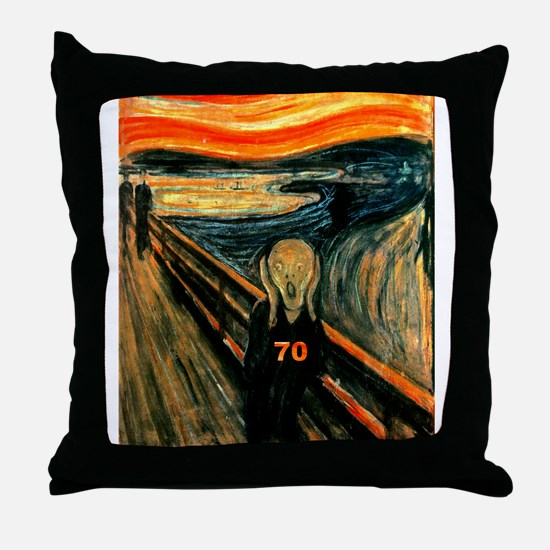 Scream 70th Throw Pillow