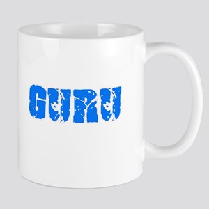 Guru Blue Bold Design Mugs