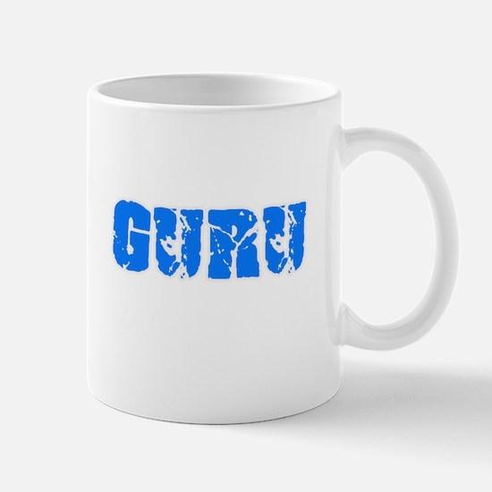 Guru Blue Bold Design Mugs