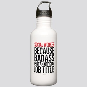 Badass Social Worker Stainless Water Bottle 1.0L