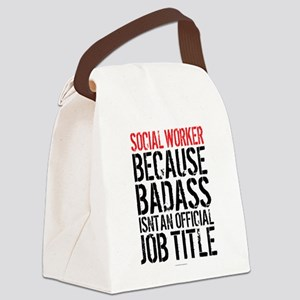 Badass Social Worker Canvas Lunch Bag