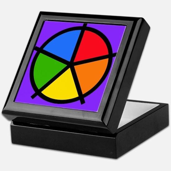 Fat Fetish Rainbow Wedges Keepsake Box