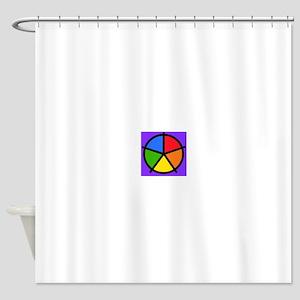 Fat Fetish Rainbow Wedges Shower Curtain