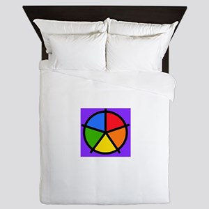 Fat Fetish Rainbow Wedges Queen Duvet