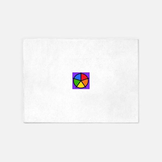 Fat Fetish Rainbow Wedges 5'x7'Area Rug