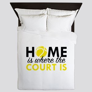 Home Is Where The Court Is Queen Duvet