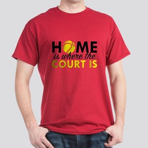 Home Is Where The Court Is Dark T-Shirt