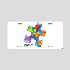 puzzle-v2-5colors Aluminum License Plate