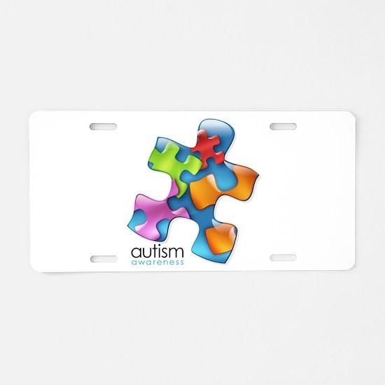 puzzle-v2-5colors.png Aluminum License Plate