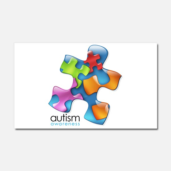puzzle-v2-5colors.png Car Magnet 20 x 12