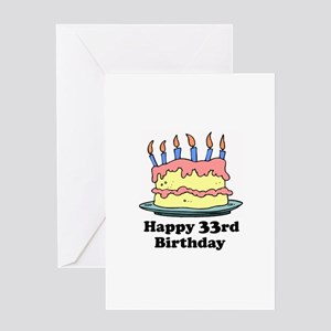 Happy 33rd Birthday Greeting Card