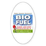Bio Fuel Clean Oval Sticker