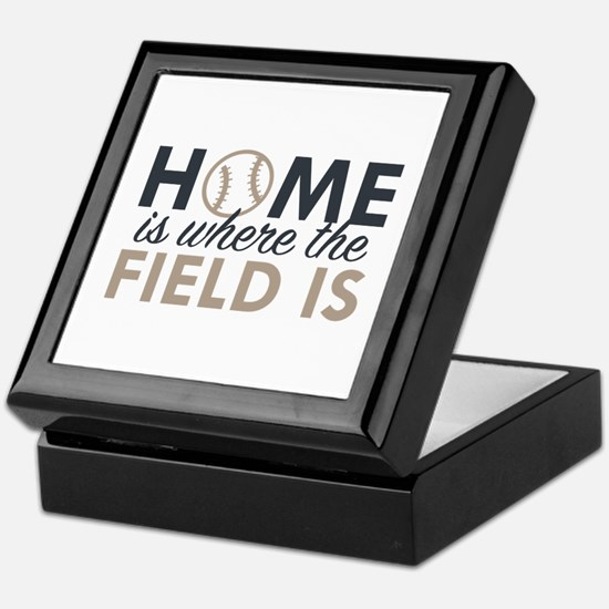 Home Is Where The Field Is Keepsake Box