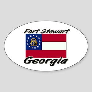Fort Stewart Georgia Oval Sticker