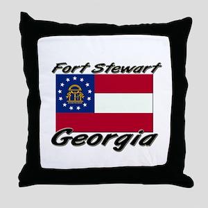 Fort Stewart Georgia Throw Pillow