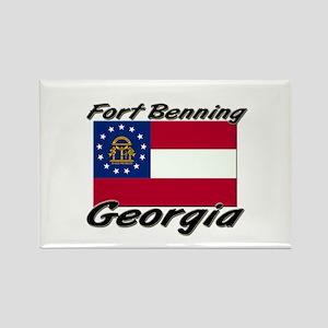 Fort Benning Georgia Rectangle Magnet