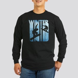 Vintage Winter Holiday Sports. Long Sleeve T-Shirt