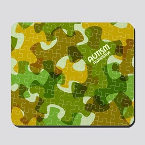 Autism Awareness Puzzles Camo Mousepad
