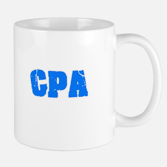 Cpa Blue Bold Design Mugs
