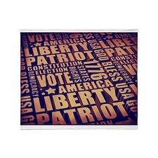 Patriotic Typography Throw Blanket