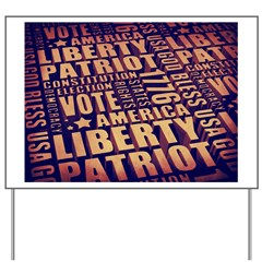 Patriotic Typography Yard Sign