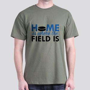Home Is Where The Field Is Dark T-Shirt