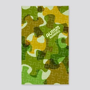 Autism Awareness Puzzles Camo Area Rug