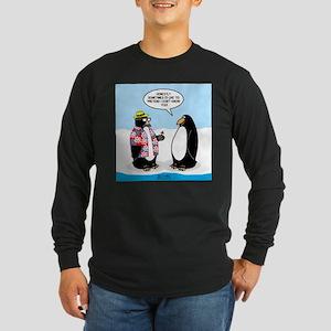 Penguin Goofball Long Sleeve Dark T-Shirt