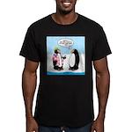 Penguin Goofball Men's Fitted T-Shirt (dark)