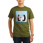 Penguin Goofball Organic Men's T-Shirt (dark)