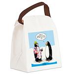 Penguin Goofball Canvas Lunch Bag